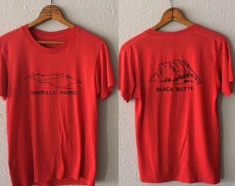 1980's Gravelly Range Black Butte Vintage Montana Thread Bare T Shirt