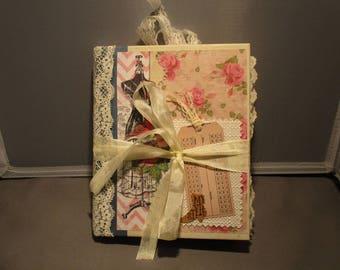 Victorian Dream, Tea-Dyed Journal, Romantic Journal, Handmade Journal, Vintage Images, Junk Journal