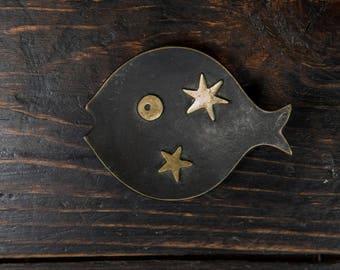 Vintage Mid Century Walter Bosse Herta Baller Fish Dish with Stars
