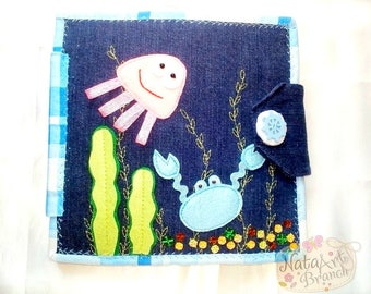Quiet Book, Soft toy, Soft book,  busy book, Felt book, activity book, Fishing, Felt fishing game, Fishing Game, Quiet toy