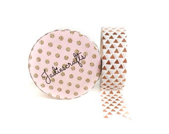 Rose Gold Foil Triangles Washi Tape