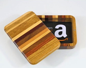 Multi-wood gift card box