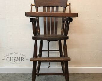 Primitive Antique Highchair