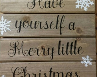 Christmas sign. Merry little christmas