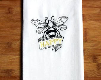 Flour Sack Towel - Bee Happy