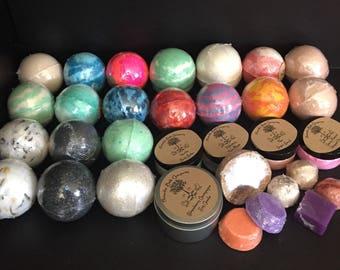 Delux 20 bath bomb wholesale. 20 5oz bath bombs with extras