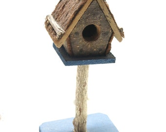 Rustic Birdhouse Rare Wooden Design And Decorated Adorable