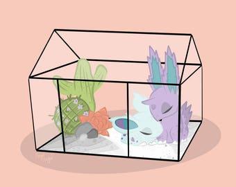Nidoran & Nidoran Terrarium Habitat