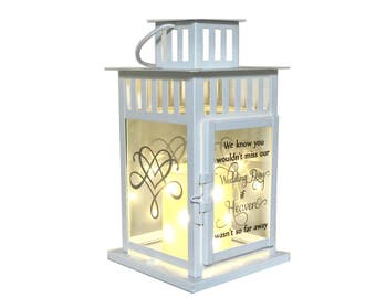 Memory Lantern, Wedding Lantern, Memory Table Wedding Candle Holder, In Loving Memory, Wedding Memorial Lantern, Memory Table Centerpiece
