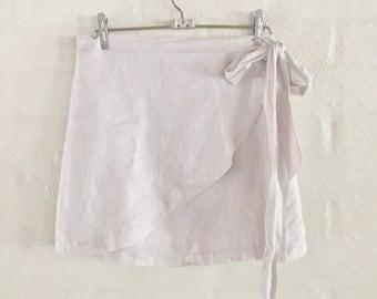 Wrap skirt linen
