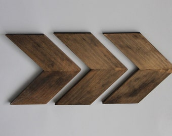 Wooden Chevron Arrows (Set of 3)