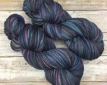 Hand Dyed Yarn | Superwash Merino Wool/Nylon Blend | Full-Bodied Sock/Fingering Weight | 100 g. | Earl Grey | 4-ply