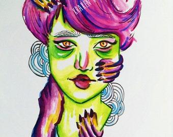 Zombie Princess (Art Print)