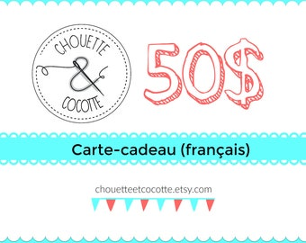 Gift-card (French)