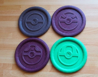 3D Printed Thermal changing Pokemon Coasters