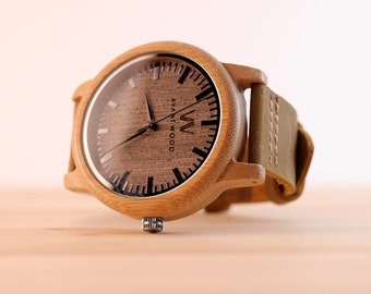 Women's Watch | Women's Wood Watches | Bamboo Watch | Watch for Women | Wood Watch | Wooden Watch | Women's Watch Leather | Girlfriend Gift