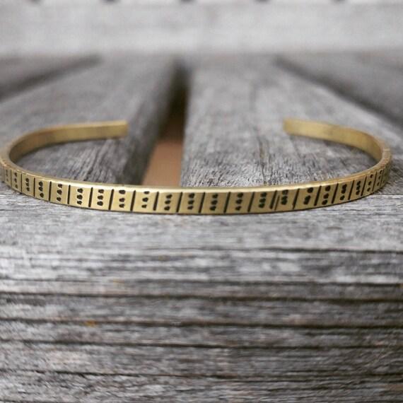 Brass Cuff bracelet, Minimalist cuff,  skinny cuff bracelet, quote cuff bracelet, Personalized cuff bracelet