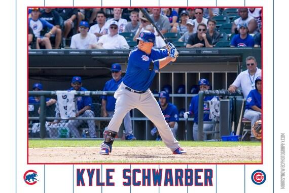 Kyle Schwarber Chicago Cubs Canvas Wrap