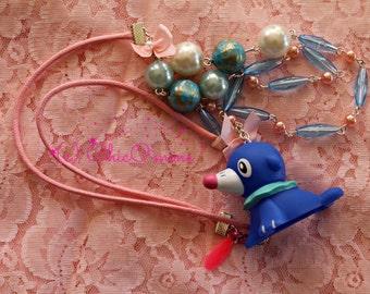 Sale Pokemon POPPLIO Double Strand Toy Necklace: Fairy Kei, Sweet Loita, Gamer Gear, Pokemon GO, Christmas Gift, Hanukkah Gift