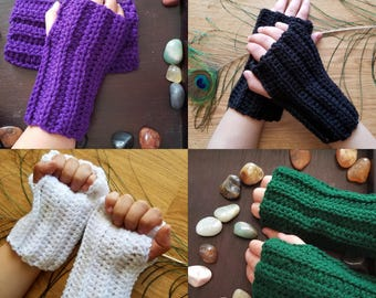 Kids Fingerless gloves, hand warmers, arm warmers, crochet gloves, texting gloves, gauntlets, crochet fingerless mittens, kids crochet glove