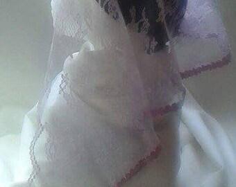 Lilac Floral Veil