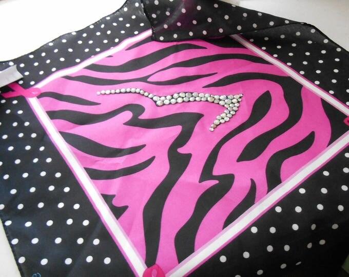POLYESTER Bandana Breast Cancer logo MMBC60
