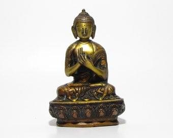 Buddha brass statue,statuette,Buddhism,Buddhist,Meditation.
