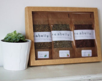Mum to Be Herbal Tea Selection Box of 3 teabelly Organic Artisan Tea Blends Infusion Tisane