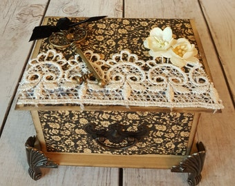 Vintage and Lace Trinket Box