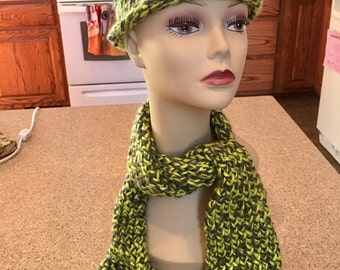 Scarf and hat set for youth/jr
