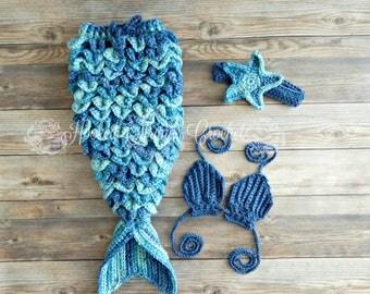 Baby mermaid tail, Mermaid costume, Crochet mermaid tail, Mermaid photo prop, Baby outfit, Baby costume, Baby Photo prop, Baby shower,