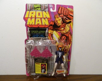1994 Marvel Comics Iron Man Spider-Woman Action Figure By Toy Biz