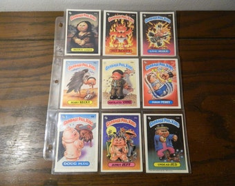 Vintage 1980s Garbage Pail Kids Cards Set of 12