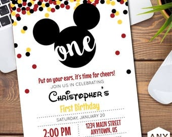 Mickey Mouse Birthday Invitation/Announcement