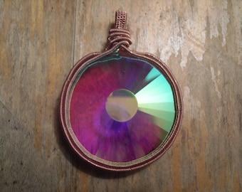 Wire wrap Kaleidoscope Monocle pendant w/ copper wire(wormhole)