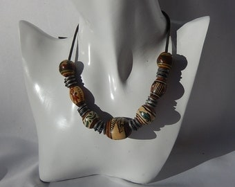 Old Berber necklace beads Pottery