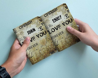 I Love Couple - Personalized couple passport cover/holder - Travel Passport Cover - High Quality Handmade Leather |TPS-PPC-660,661