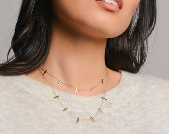 Gold Five Bar Necklace - Delicate Necklace - Gold Necklace - Layering Necklace - Everyday Necklace - Bar necklace - Minimal necklace