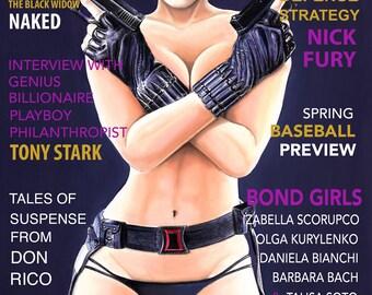 Black Widow Playboy cover