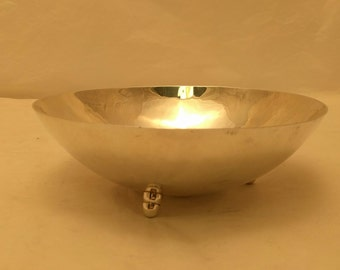 Sterling Silver Footed Bowl By Sciarrotta #78