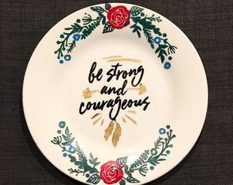 Boho Decor - Decorative Plate - Inspirational Quote - Wall Hanging - Etched - Hand Painted - Bohemian - Gypsy - Hippie