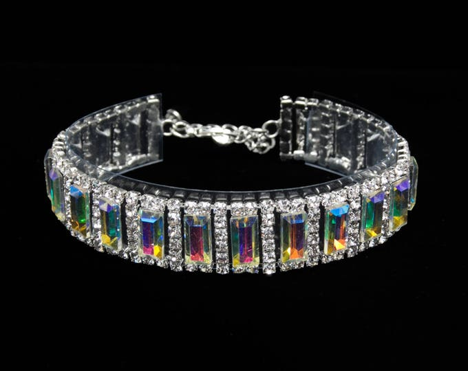 Angela AB Crystal Competition Bracelet for IFBB and NPC Bikini Fitness Bodybuilding Contests
