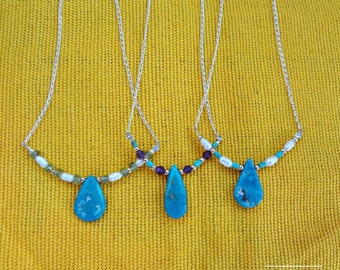 Turquoise and assorted gemstones