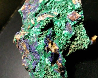 Azurite and malachite on matrix