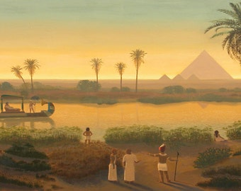 Giza Pyramids - Ancient Egypt - Egyptian Art - Handmade Oil Painting On Canvas