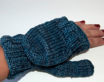 Wool Flip Top fingerless Mitten