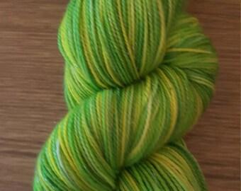 100g 4 Ply Merino/Sparkle/Nylon Sock Yarn - Zestiness!