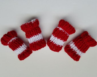 Dog Leg Warmers-Dog socks-Dog accessories-Dogs winter clothing-Candy Cane  Dog Leg Warmers-Woolen socks for dog-Knitted Dog Leg Warmers