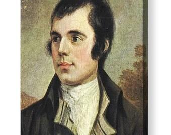 Robert Burns Portrait painted by Alexander Nasmyth Canvas Box Art A4, A3, A2, A1