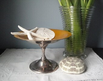 Vintage Reed and Barton footed compote bowl #141 in gold